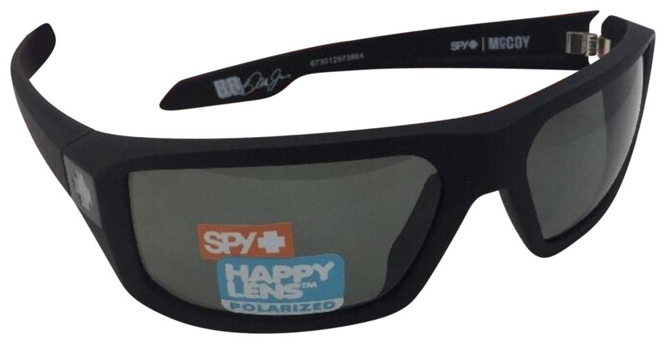 eb06f6591d Spy Polarized SPY OPTIC Sunglasses McCOY Soft Matte Black w  Grey-Green ...