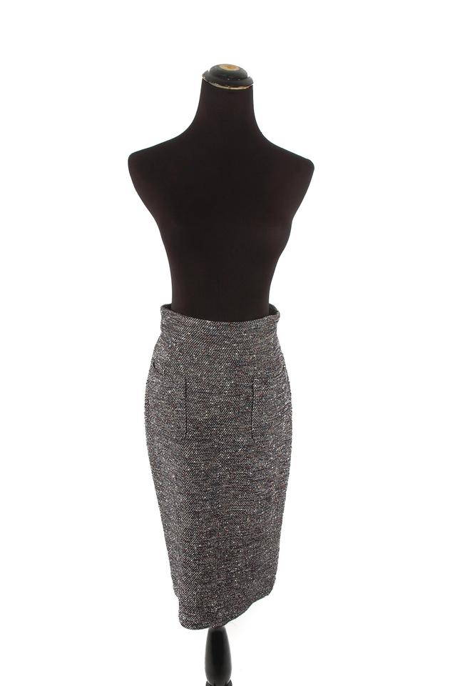 4573e19fa870a Chanel Tweed Skirt Grey Image 0 ...