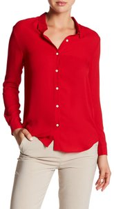 Les Petites Collection Button Down Shirt Rouge Red