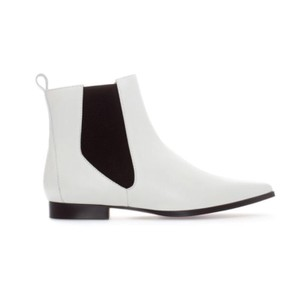 Zara white and Black Boots