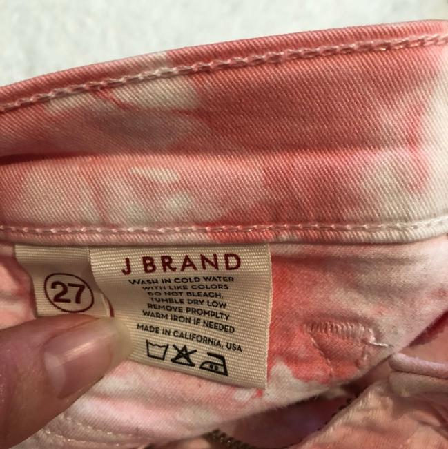 J Brand Coral and White Tie-dye Skinny Jeans Size 4 (S, 27) J Brand Coral and White Tie-dye Skinny Jeans Size 4 (S, 27) Image 7