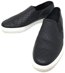 4d87beafe Gucci Black Athletic. Gucci Black Men's Slip On Loafers Gg Signature Leather  ...