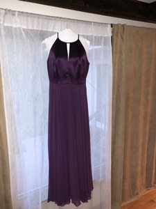 After Six Aubergine Lux Chiffon 6705 Traditional Bridesmaid/Mob Dress Size 8 (M)