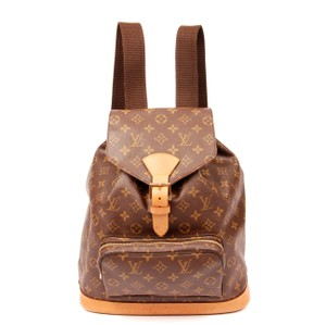 Louis Vuitton Montouris Leather Monogram Canvas Gold Hardware Backpack