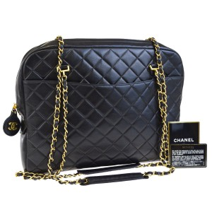 Chanel Exclusive Luxury European Caviar Limited Edition Tote in Black