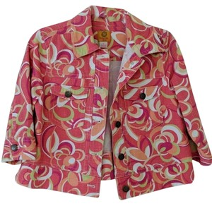 Ruby Rd. multicolor, pink, red, green Womens Jean Jacket