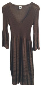 Missoni short dress Brown on Tradesy