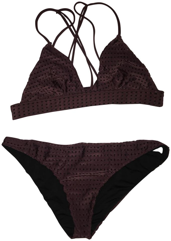 f1d591b58bab Acacia swimwear Burgundy Mesh Awapui Top and Waikoloa Bottoms Bikini ...