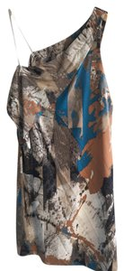 VPL short dress Multi One Shoulder Silk on Tradesy