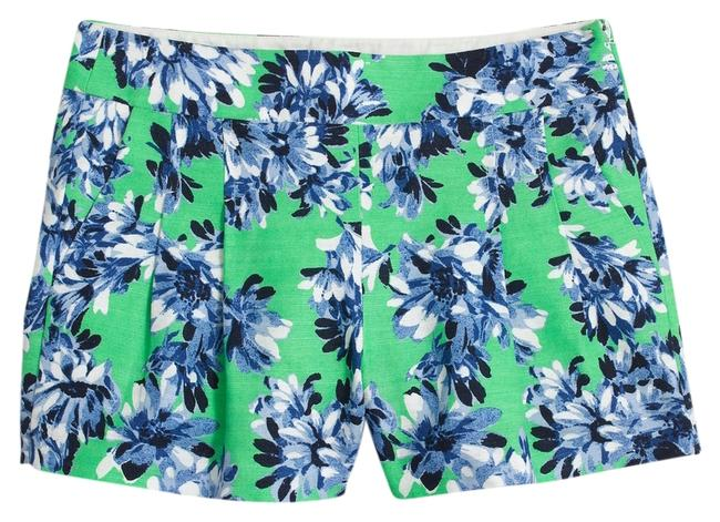 J.Crew Floral Summer Cotton Dress Shorts Green Image 1