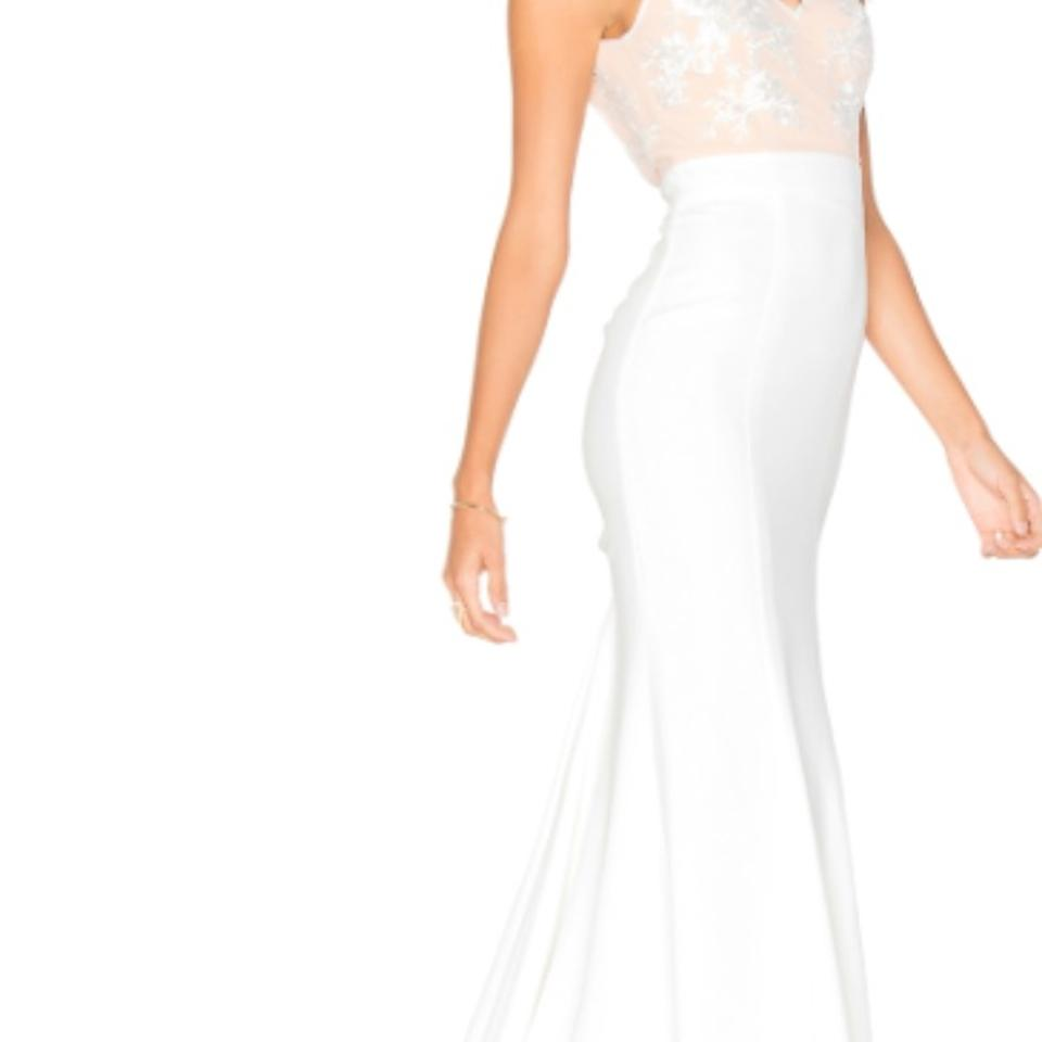 817bde83aab7 Lovers + Friends White and Nude Polyester Nylon Lace Revolve Gallery ...