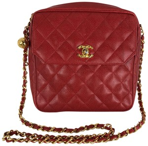 d538660694609f Added to Shopping Bag. Chanel Cross Body Bag. Chanel Camera Vintage Caviar  Red ...