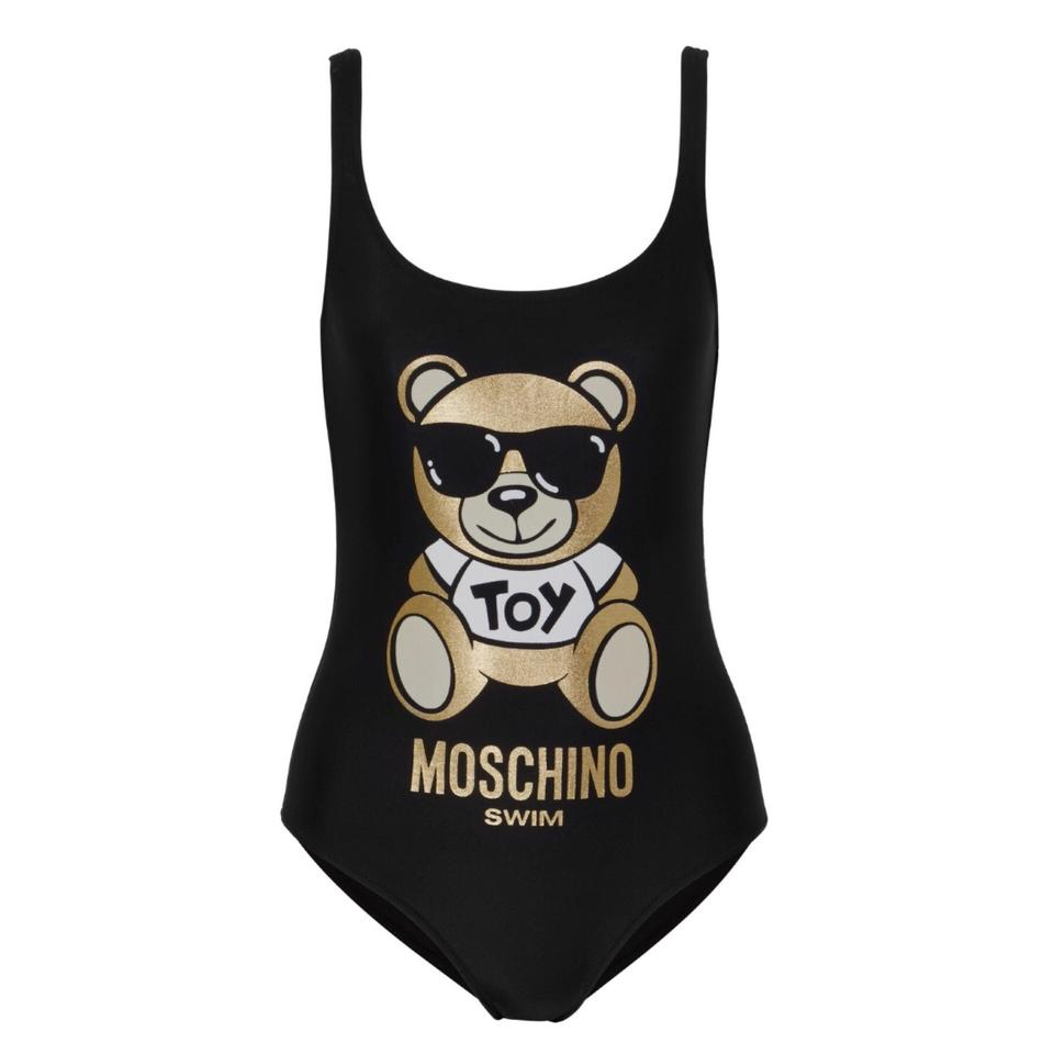 2543a5ef574f8 Moschino Moschino teddy bear metallic printed swimsuit bodysuit Image 0 ...