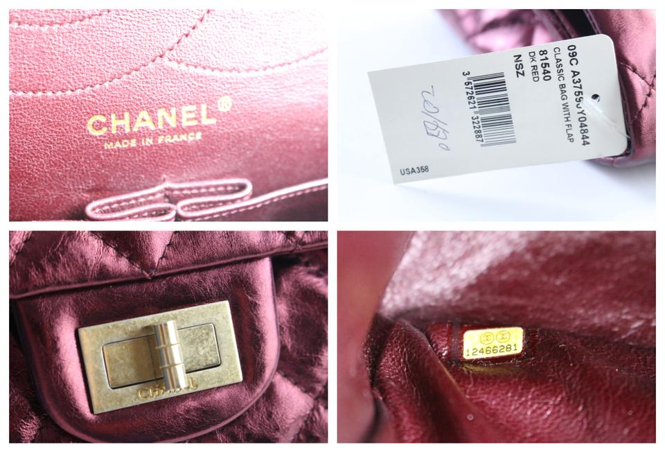 81bd27d4ca68 Chanel 2.55 Reissue Jumbo Bordeaux 227 Flap 11cr0522 Metallic Burgundy Quilted  Leather Shoulder Bag - Tradesy