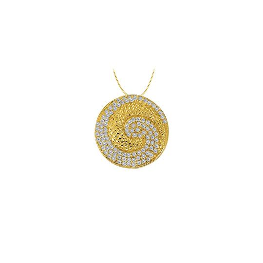 Preload https://img-static.tradesy.com/item/23402950/white-yellow-cubic-zirconia-circle-fashion-pendant-in-gold-vermeilsilver-050-ct-tg-necklace-0-0-540-540.jpg
