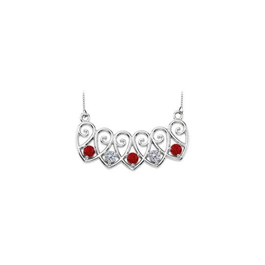 Preload https://img-static.tradesy.com/item/23403023/red-white-gold-14k-created-rubies-and-cz-mothers-mounting-necklace-0-0-540-540.jpg