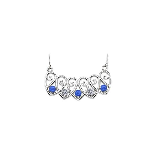 Preload https://img-static.tradesy.com/item/23403028/blue-white-gold-14k-created-sapphires-and-cz-mothers-mounting-necklace-0-0-540-540.jpg