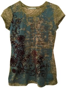 Maurices Blue Scroll T Shirt multi green