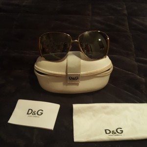 Dolce&Gabbana Dolce and Gabbana limited edition aviator sunglasses in gold and red