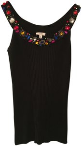 Cache Knit Embellished Top black with jewels