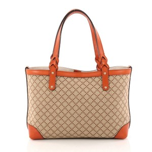 Gucci Canvas Tote in Brown