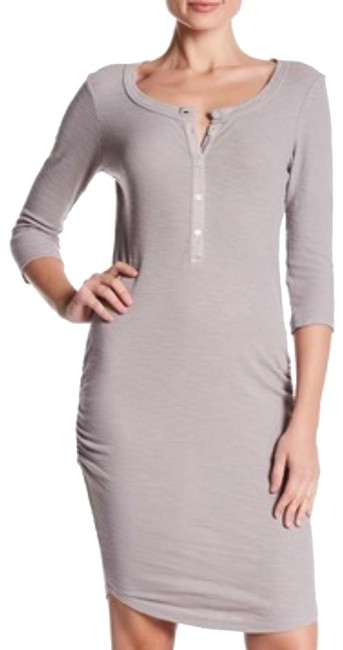 Item - Dapple Gray Thermal Henley Mid-length Casual Maxi Dress Size 8 (M)