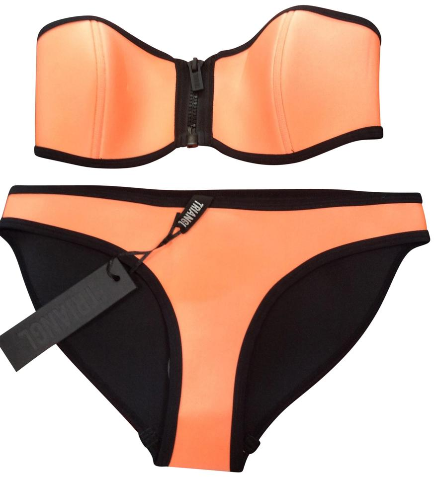 Triangl Orange and Black Bikini Set Size 8 (M) - Tradesy 888d4e157c0d