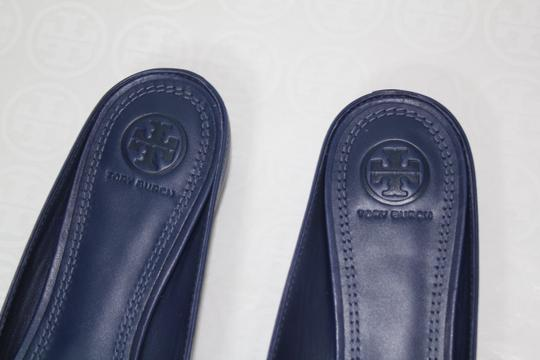 Tory Burch Nautical Striped Summer Tassels Slides Navy blue white Mules Image 7