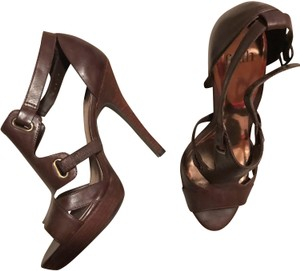 Faith Gladiator Sexy Heels High Heels Leather brown Sandals