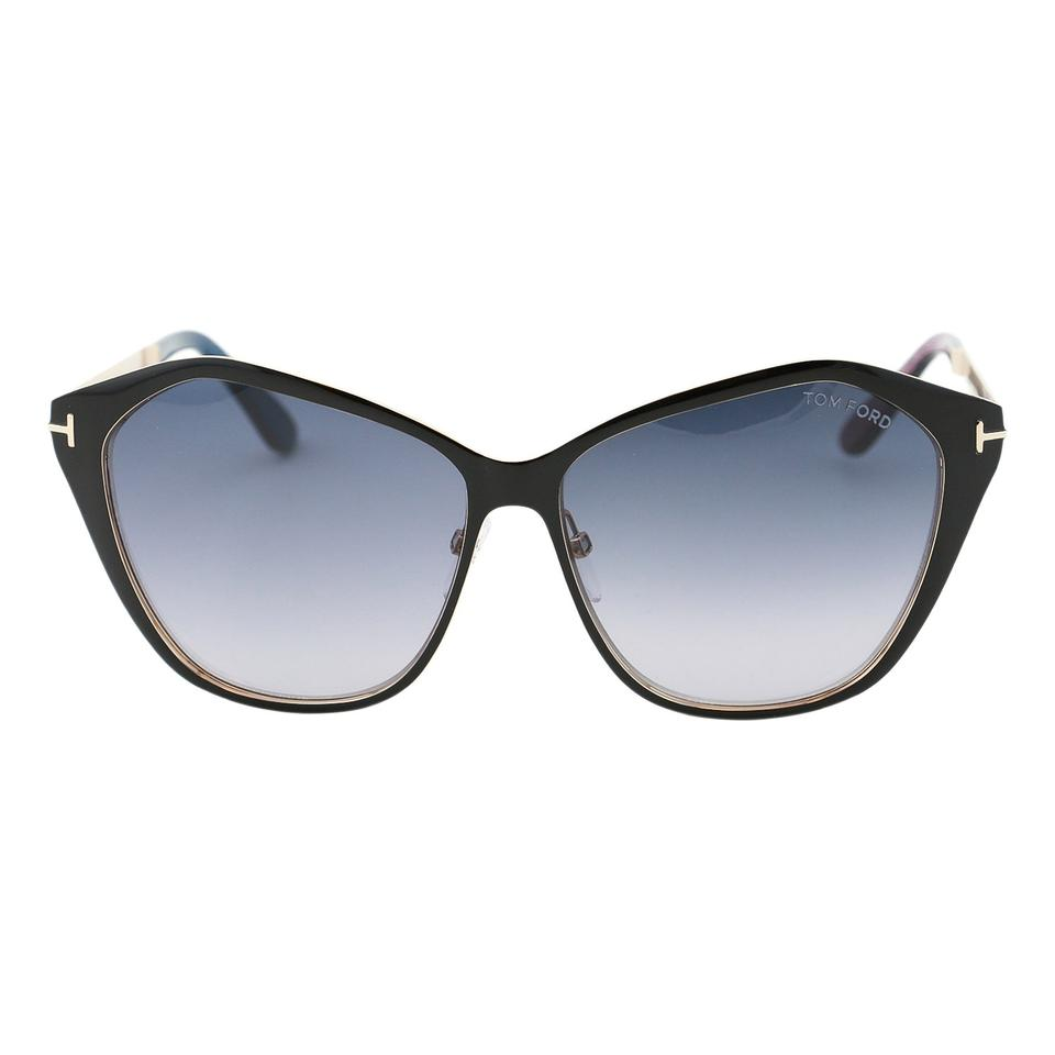 fbceb04912 Tom Ford New Tf Lena Ft0391-05b Angular Butterfly Cat-eye 58mm Sunglasses  Image ...