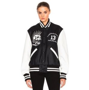 R13 Black/White Leather Jacket