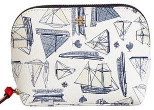 Tory Burch NEW TORY BURCH NAUTICAL SAILBOAT PRINT SUMMER BOAT COSMETIC MAKEUP BAG