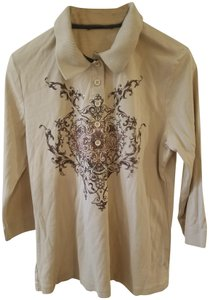 Thomas Rabe Designer Tops Dressy Polo Women T Shirt Beige