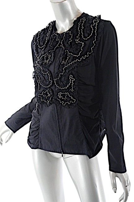 Preload https://img-static.tradesy.com/item/23403861/anne-fontaine-black-cotton-with-silver-ball-chain-applique-blouse-size-10-m-0-1-650-650.jpg