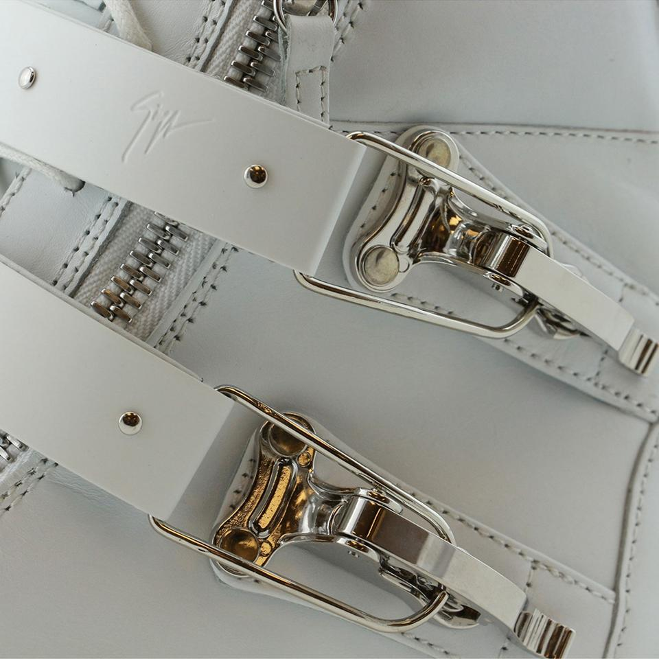 44 Men White Ski Accessory Buckle Sneakers amp; High Eu Zanotti Leather top Giuseppe New Genuine Gz pY5gB