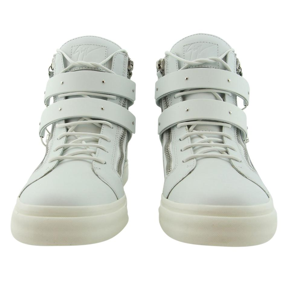 Sneakers Buckle Genuine Giuseppe Men Accessory Leather Gz 44 White New amp; top Eu Zanotti Ski High wZ0xq4nFZR