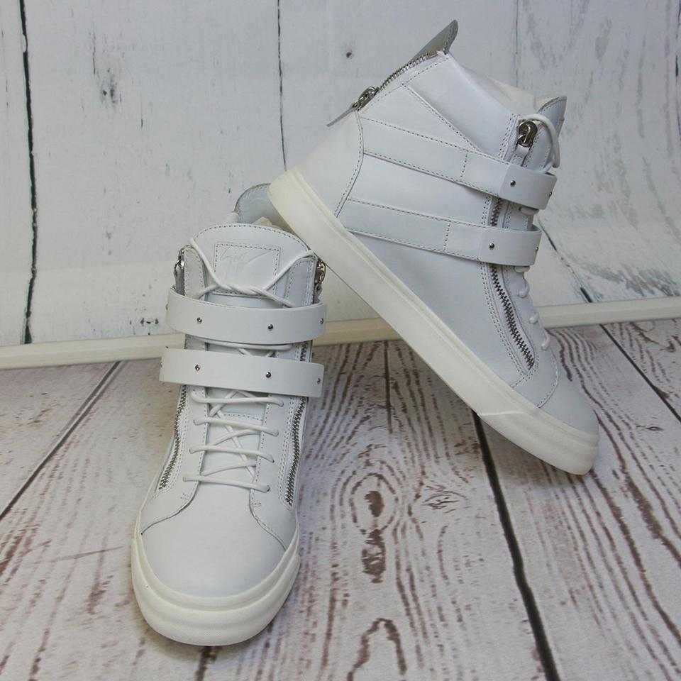 Men Genuine Giuseppe Buckle High New Accessory Eu top Leather Gz White Sneakers Zanotti amp; 44 Ski qP0IS