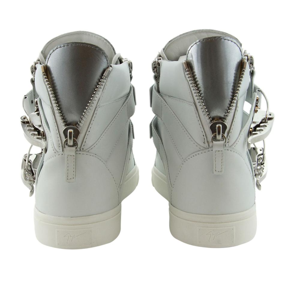 Sneakers Men Genuine Zanotti top White Gz Ski Leather Eu High Buckle amp; Giuseppe New Accessory 44 0ZWBSfBnx