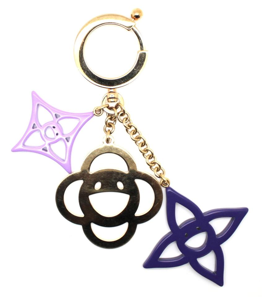 0a00459b315c Louis Vuitton Limited Edition Key Ring flowers logo Chain Holder bag Charm  Image 0 ...
