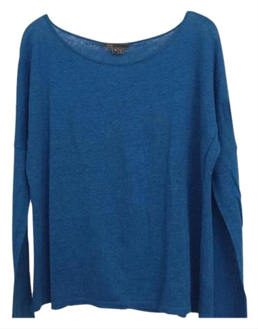 Preload https://img-static.tradesy.com/item/23404258/vince-blue-new-linen-sweater-tunic-size-8-m-0-3-650-650.jpg