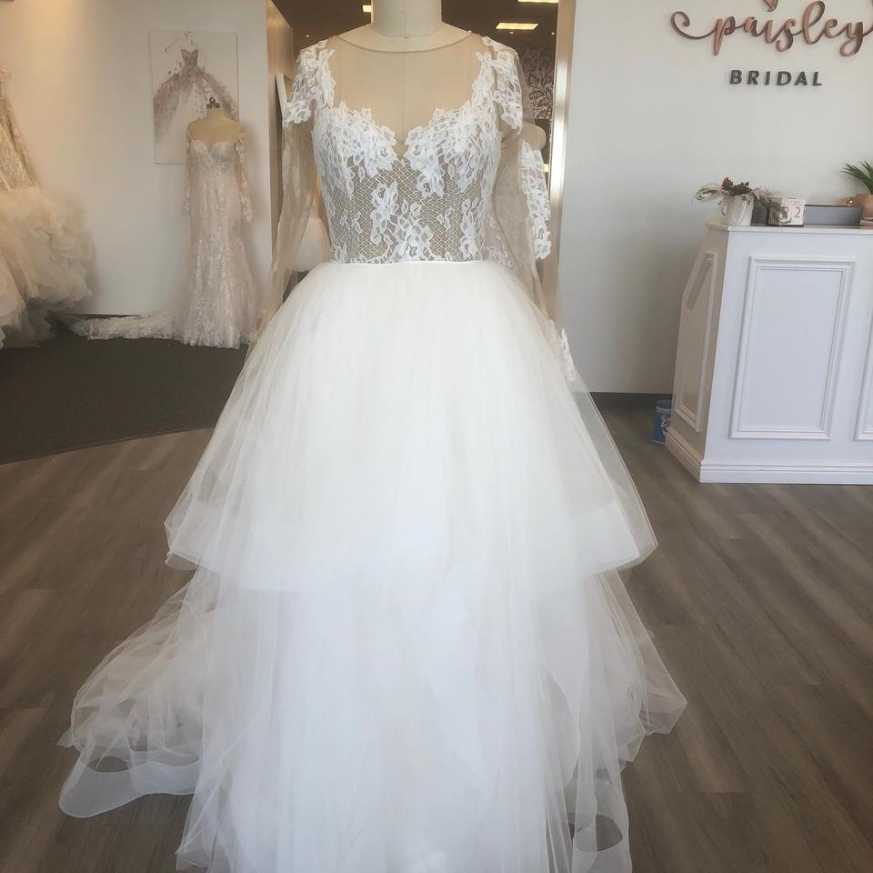 8887188d6768 Blush by Hayley Paige Ivory/Nude/Oyster Lace and Tulle Pippa Feminine  Wedding Dress