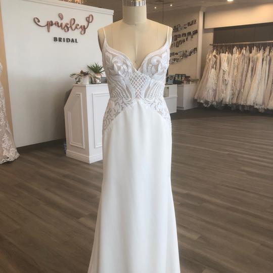 Preload https://img-static.tradesy.com/item/23404518/blush-by-hayley-paige-ivorycashmere-crepe-xenia-feminine-wedding-dress-size-12-l-0-0-540-540.jpg
