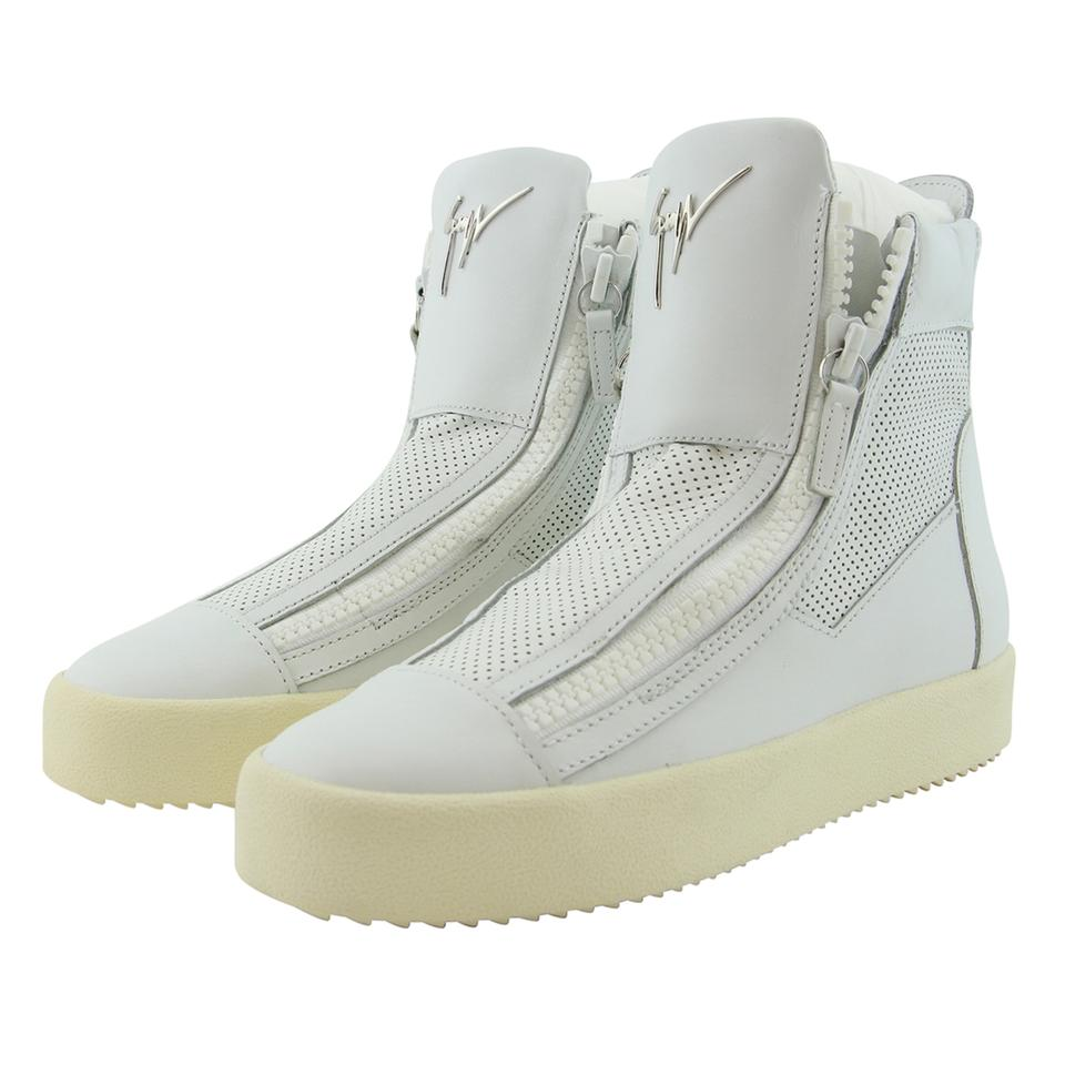 1ef000e785dba Giuseppe Zanotti White New Gz Design Women Genuine Perforated Leather High  Top Somerset Sneakers