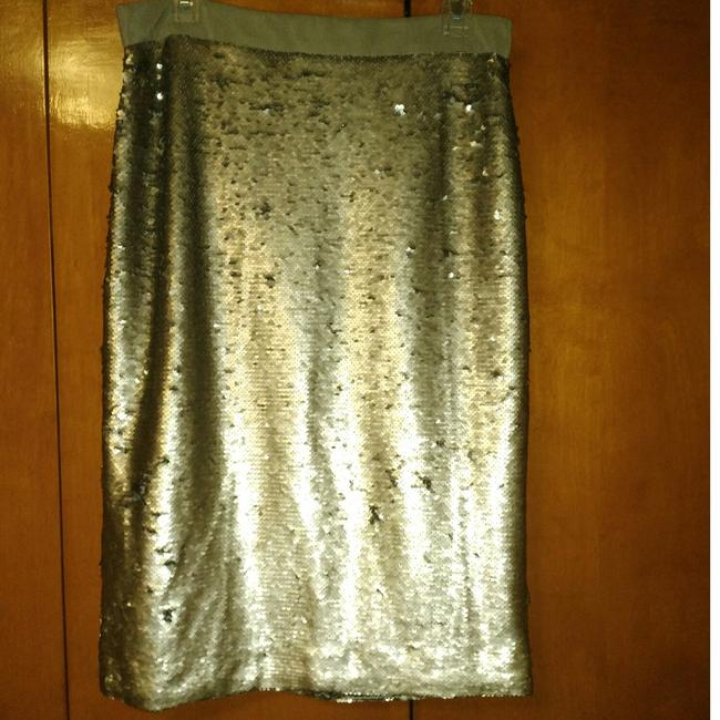 Item - Silver/Gray Two Way Sequin Skirt Size 10 (M, 31)
