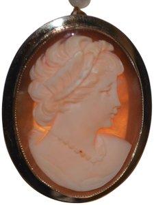 Coralivory antique 14 k yellow gold cameo pendant brooch excellent handmade antique 14 k yellow gold cameo pendant brooch excellent condition aloadofball Images