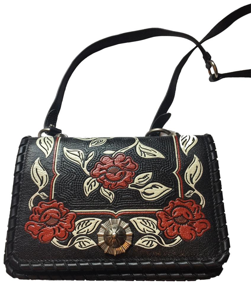 4b3b499a07c Miu Miu Prada Women's Madras Flor Handbag 5bd035 Black Leather Cross ...