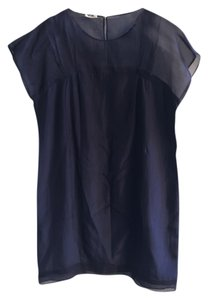 Miu Miu short dress Navy Blue Silk on Tradesy