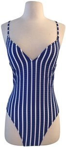 9155bcc59b56b J.Crew Multicolor Lace-up Back Swimsuit In Puckered Stripe H2911 One ...