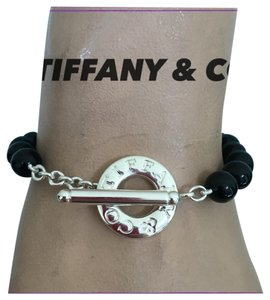 Tiffany & Co. black onyx toggle bracelet Sterling silver Tiffany & co bracelet