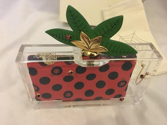 Charlotte Olympia Ladybug Flower Garden Leaf Summer Clear and Polkadots Clutch Image 1